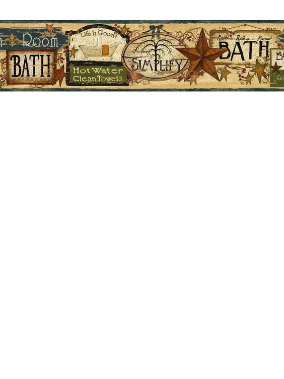 Bathroom border from wallpaperwholesaler.com