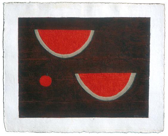 "Rufino Tamayo, ""Sandias con Manzana (Watermelon with Apple),"" 1985"