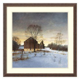 Amanti Art 31.3-In W X 31.3-In H Framed Wood Landscapes Prints Wall Ar
