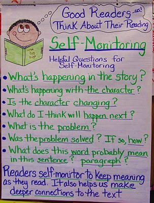 Self-Monitoring During Reading and good reading comprehension goals for an IEP.