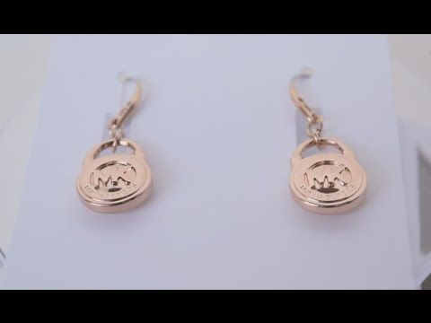 New Michael Kors Rose Gold Tone MK Logo Padlock Drop Earrings MKJ2959791 #MKJ2959791  #MichaelKors  #Earrings buy fashion for less store: http://stores.ebay.com/buyfashionforless/  Please check out my ebay store we have amazing prices in high quality products and the best customer service, we will really appreciate it.