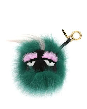 Monster Fur Charm for Handbag, Green Multi by Fendi at Neiman Marcus. $850 sold out