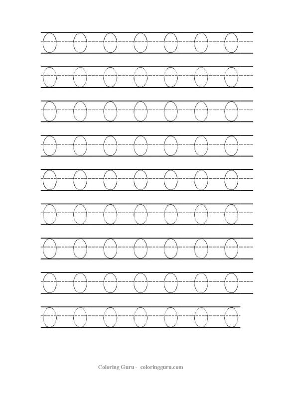 Free Printable Tracing Number 0 Worksheets | Coloring Pages For ...