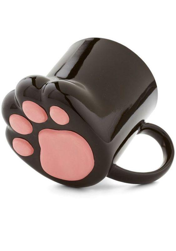 """Patas abajo si ésta es la taza más linda   Community Post: 17 fabulosas cosas para la moderna y cool """"loca de los gatos"""""""