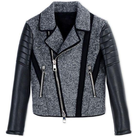 Neil Barrett Jacket (¥175,945) ❤ liked on Polyvore featuring outerwear, jackets, grey, zip jacket, pattern jacket, print jacket, gray jacket and zipper jacket