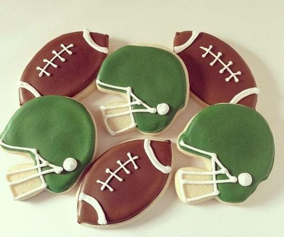 Footballs and Helmets | Cookie Connection