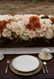 beautiful color scheme for a fall wedding!