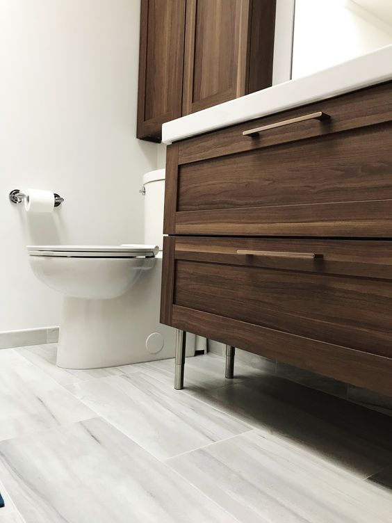Ikea Godmorgon Walnut Two Drawer Vanity Ikea Bathroom Small Apartment Bathroom Ikea Bathroom Vanity