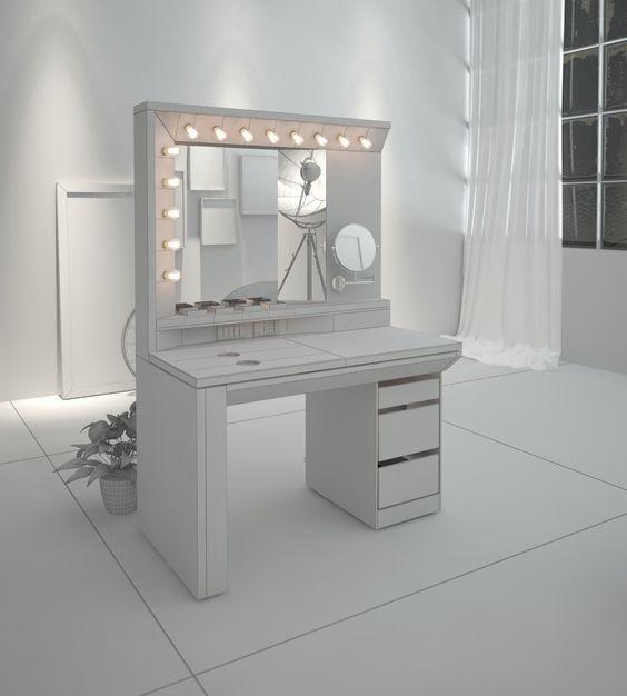 Mueble maquillaje on behance ideas para vip y lidherma - Sillas para tocador ...