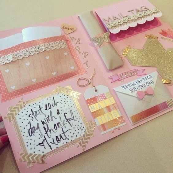 Happymail Envelope...pretty colour combination