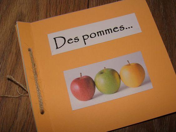 petit livre fabriquer jeu de mots avec les pommes pomme de terre pomme de pin pomme d. Black Bedroom Furniture Sets. Home Design Ideas