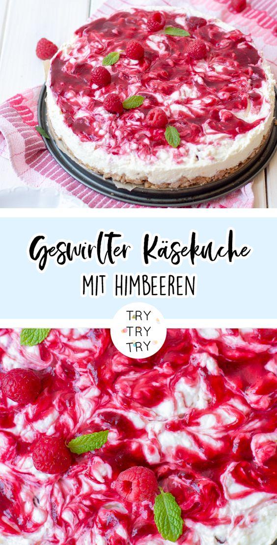 Geswirlter Himbeer-Cheesecake (No-Bake!)