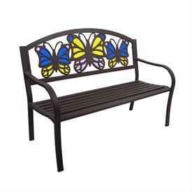 Tiffany Style Butterfly Bench | Patio Furniture | Brylanehome
