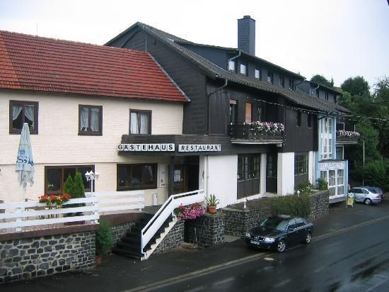 Hotel Restaurant Jöckel von Hotel Nieder-Moos, Hessen, Deutschland. Where the Haner Line starts.
