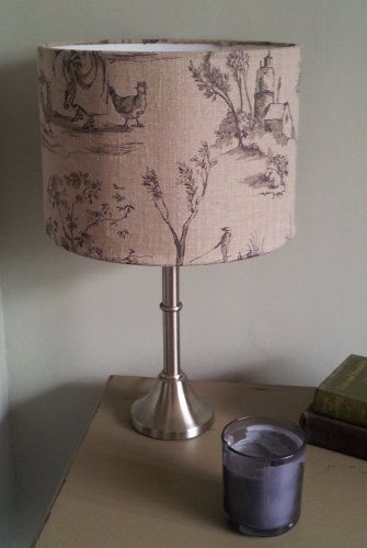 Drum Lampshade in Helena Linen Fabric made by Half Past Four Interiors www.halfpastfour.co.uk