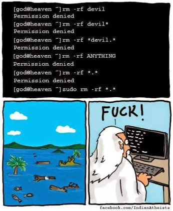 God doesn't get Linux.