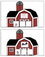 Barn yard CVC word mats