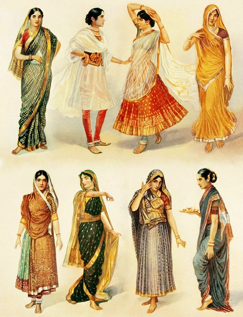 How To Wear A Sari In Different Styles Watercolors
