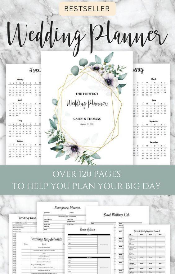 The Best Selling Wedding Planner On Etsy Get Organized Today Weddingideas Brid In 2020 Wedding Planner Printables Wedding Planning Book Wedding Planning Printables