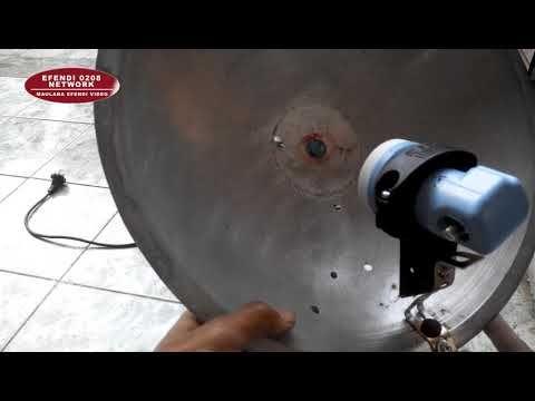 Cara Bikin Antena Tv Satelit Mini Ninmedia Dr Wajan Diameter 36 Cm Youtube