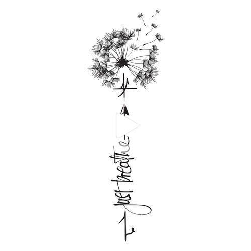 Tattoo Design Mit Lowenzahn Tattoo Design Wettbewerb Wettbewerb Tatowierung Gepfluckt In 2020 Dandelion Tattoo Design Dandelion Tattoo Quote Tattoos Girls
