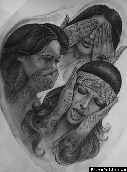 West Coast Chola Art and Graphics | Cholas and Cholos Art ...