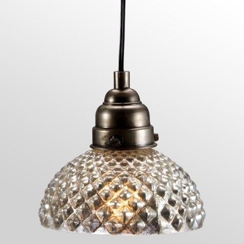 Silver Glass Honeycomb Lamp