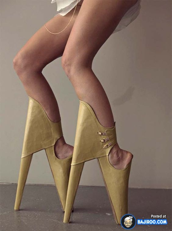 Backward High Heels That Challenge Perception Of Beauty | Walks ...