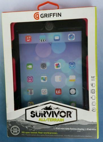 NEW Griffin Survivor All-Terrain Case for Apple iPad mini PINK & BLACK