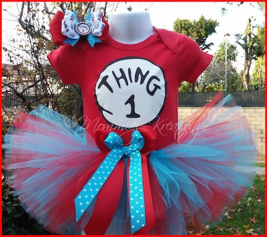 Thing 1 Baby//Toddler costume dress up Dr Sues Thing one-piece TUTU Small// 6month