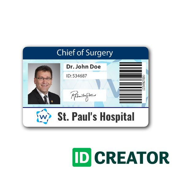 Pin by IDCreator on Healthcare\/Hospital Badge Pinterest Health - membership id card template