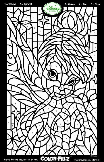 Color By Number Coloring Page In 2020 Fairy Coloring Pages Tinkerbell Coloring Pages Fairy Coloring