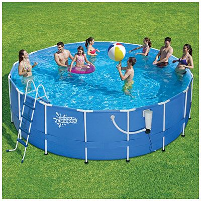 350 Summer Escapes 16 X 48 Metal Frame Pool With Filter Pump Ladder At Big Lots My Style