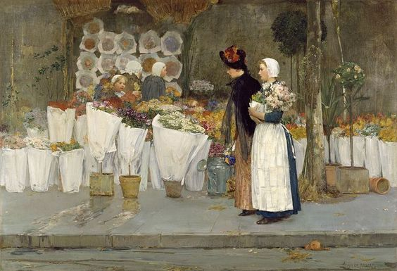 It's About Time: Flower Sellers by American artists