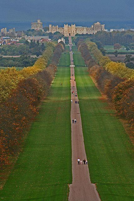 El paseo largo, el castillo de Windsor, Reino Unido.