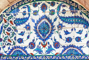 le piastrelle di ceramica turche di Rustem Pasha Mosque, Istanbul photo