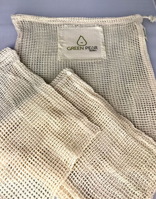 Reusable Mesh Produce Bags Are Made From Stretchy Organic Cotton Net Fabric And Are Ideal For Produce Shopping And Storage Produce Bags Mesh Fabric Cotton Bag