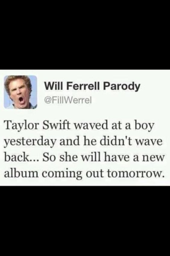 Will Ferrell on Taylor Swift