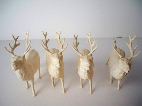 1950s Vintage Plastic Reindeer Christmas by VintageFindsbySuzi, $7.00: Village Display, Christmas Village, Christmas Decorations, Vintage Plastic, Reindeer Christmas, 1950S Vintage, Decorations Collection