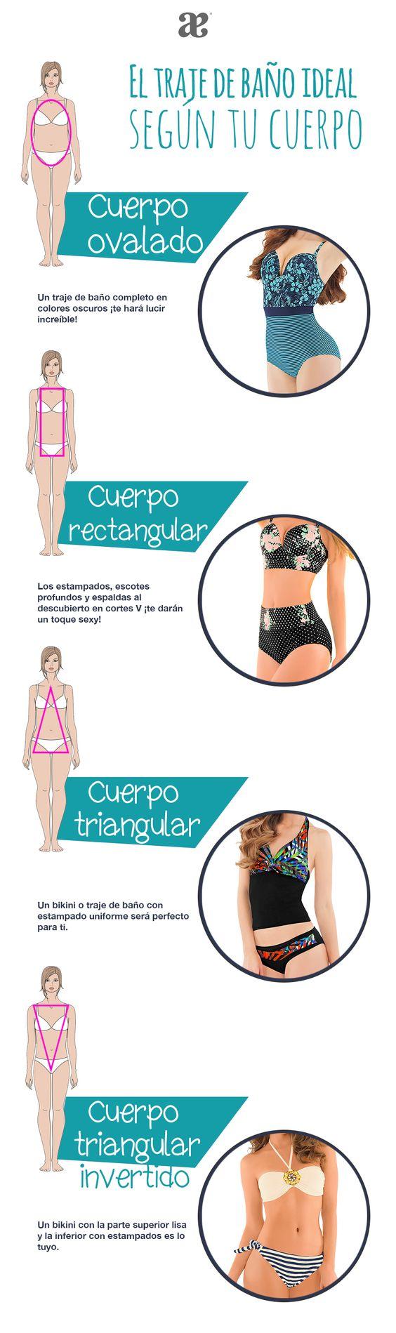 Elige el #bikini ideal para tu tipo de cuerpo y ¡luce increíble estas vacaciones!