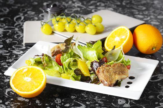 #duck #salad #signature #vegetable #tomato #LaTavola #Renaissance #Bangkok #Hotel