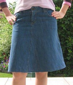 transformer un vieux jean en jupe