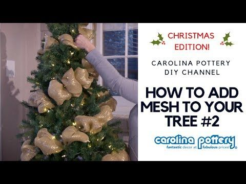 Decorating Your Tree With Deco Mesh 2 Carolina Pottery Diy Tutorial Youtube Mesh Christmas Tree Christmas Decor Diy African Christmas