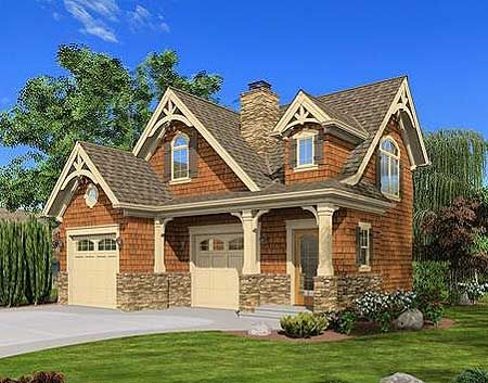 Plan 23488jd craftsman cottage or carriage house plan for Carriage house apartment plans