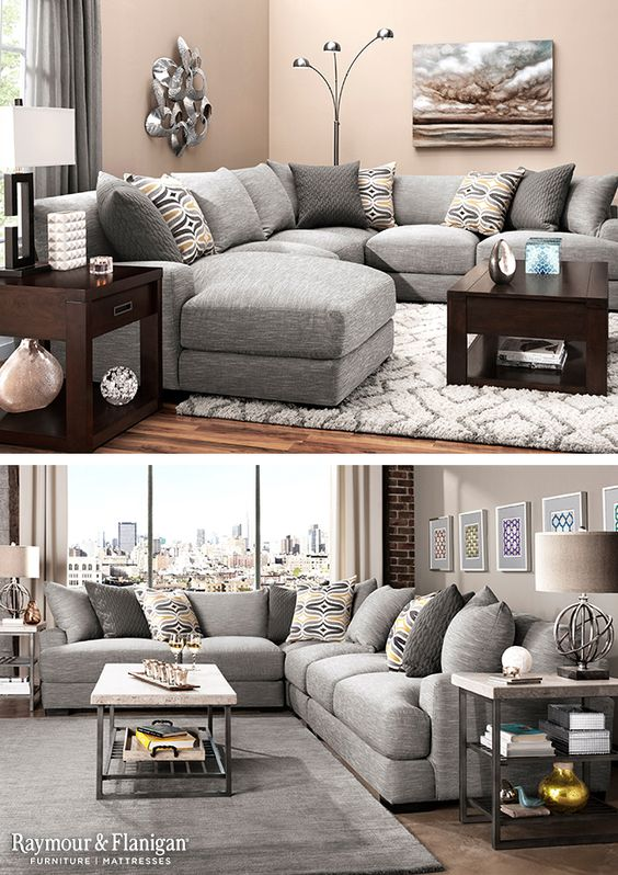 Sectionals Like This Are Great For Big Families To Relax Overstuffed Reversible Cush Living Room Rug Placement Rugs In Living Room Latest Living Room Designs
