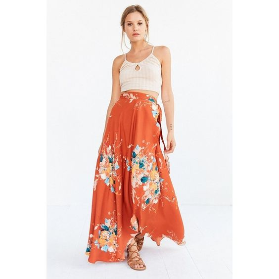 High waist maxi skirt floral – Fashionable skirts 2017 photo blog
