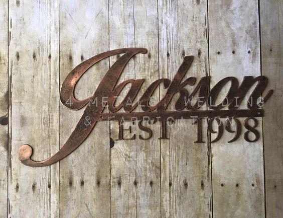 Family Name Metal Sign by J4MetalsAndMore on Etsy https://www.etsy.com/listing/261770835/family-name-metal-sign