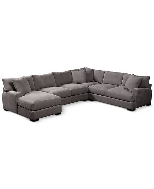 Furniture Rhyder 4 Pc 112 Fabric Sectional Sofa With Chaise Created For Macy S Reviews Furniture Macy S Sectional Sofa With Chaise Sectional Sofa Best Leather Sofa