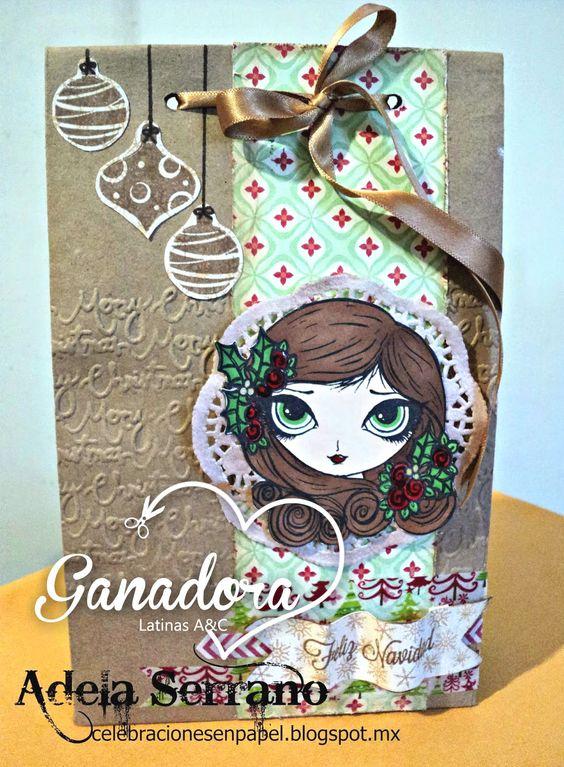 Latinas Arts and Crafts: Ganadora y Top 5 Reto  25: Bolsa de papel kraft.