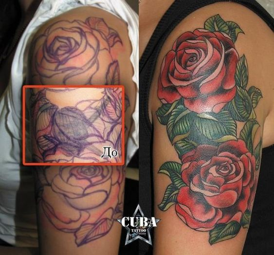 cover up w/roses